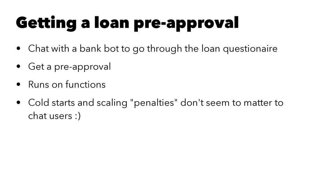 Getting a loan pre-approval • Chat with a bank ...