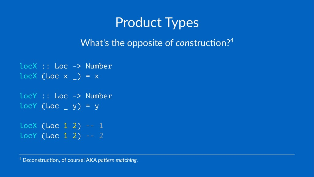 Product(Types What's'the'opposite'of'construc0o...