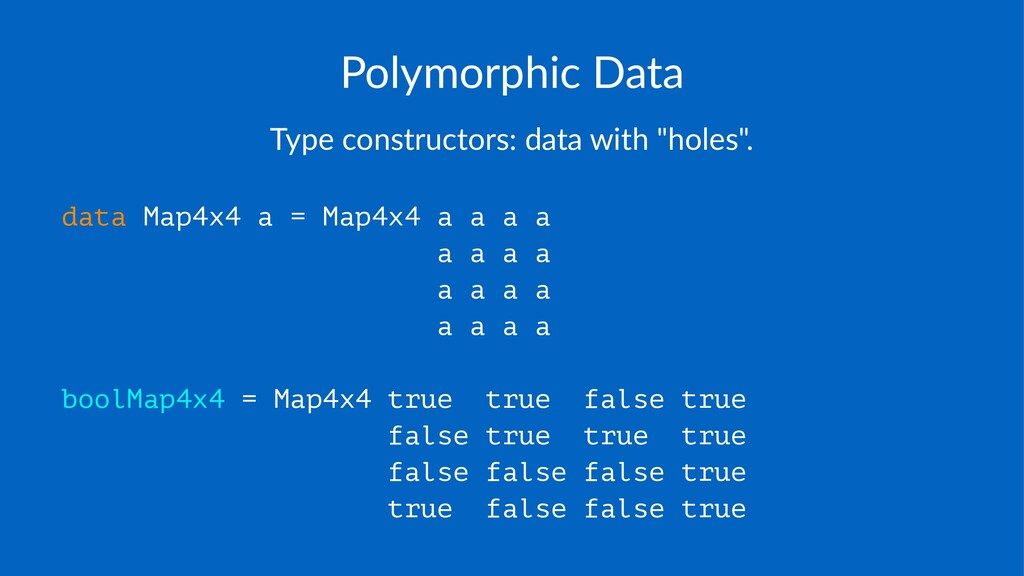 """Polymorphic+Data Type%constructors:%data%with%""""..."""