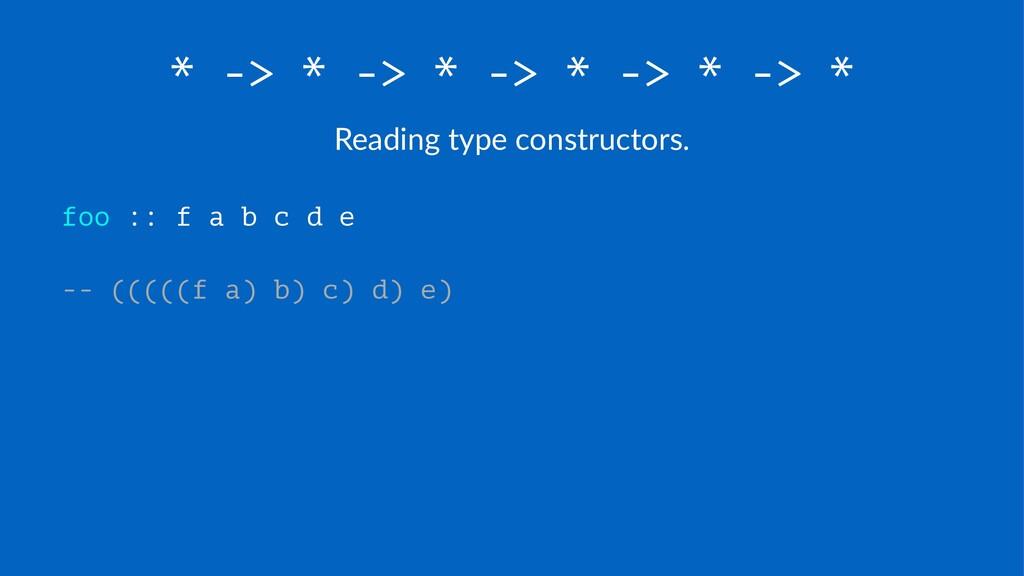 * -> * -> * -> * -> * -> * Reading(type(constru...