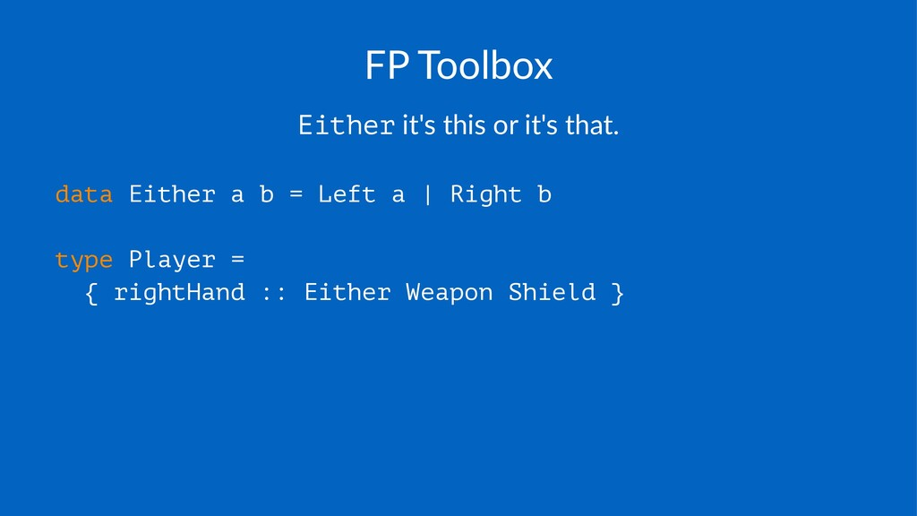 FP#Toolbox Either!it's!this!or!it's!that. data ...