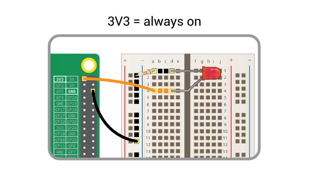 3V3 = always on