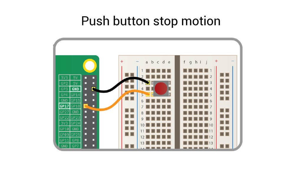 Push button stop motion