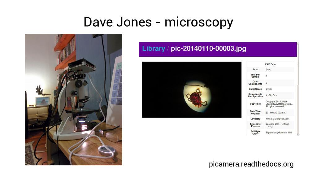 Dave Jones - microscopy picamera.readthedocs.org