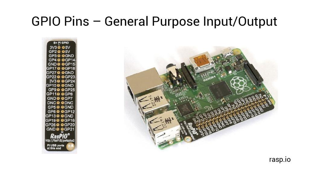 GPIO Pins – General Purpose Input/Output rasp.io
