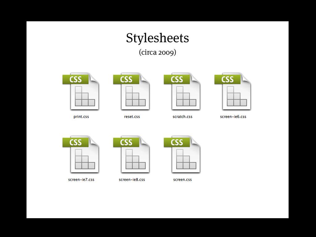 Stylesheets (circa 2009)