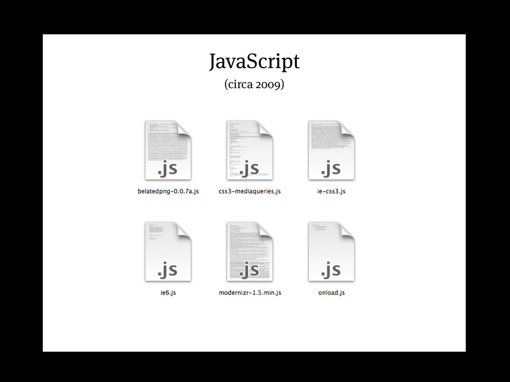JavaScript (circa 2009)