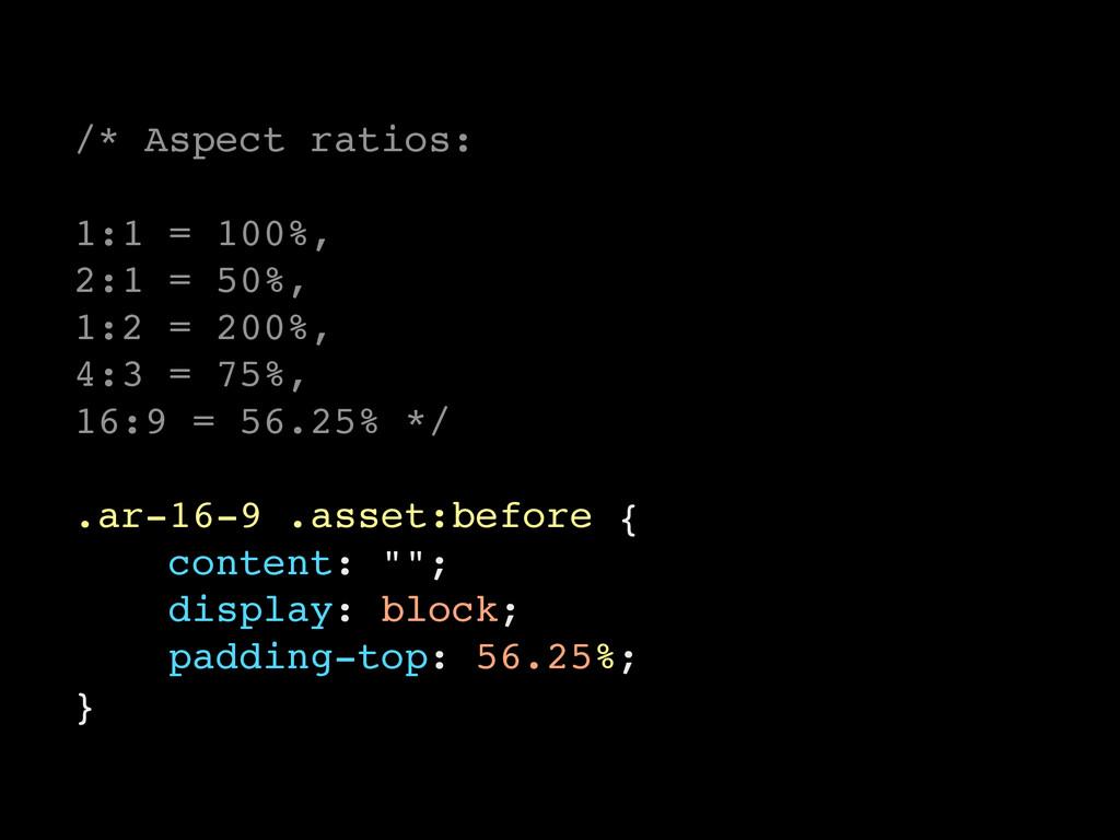 /* Aspect ratios: 1:1 = 100%, 2:1 = 50%, 1:2 = ...