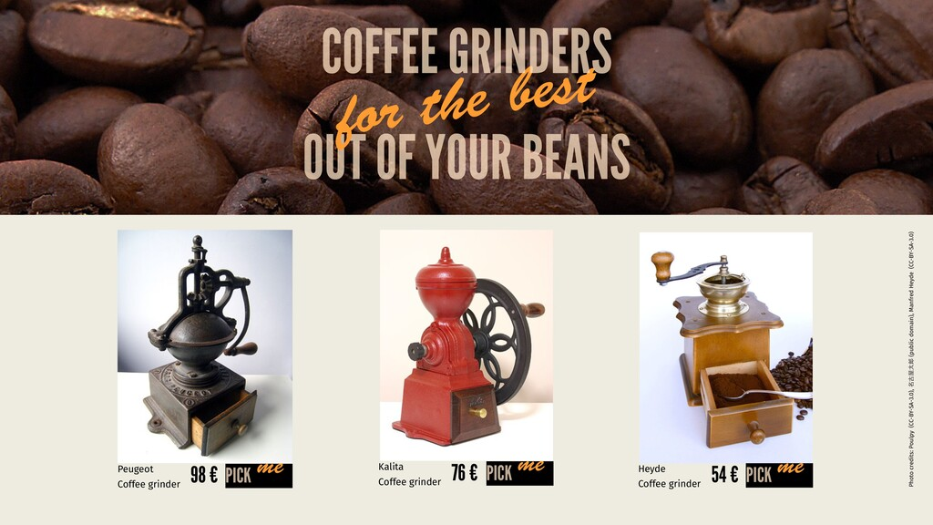 OUT OF YOUR BEANS for the best COFFEE GRINDERS ...