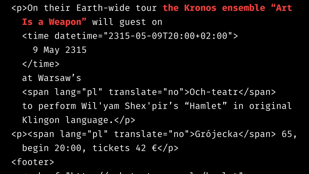 <p>On their Earth-wide tour the Kronos ensemble...