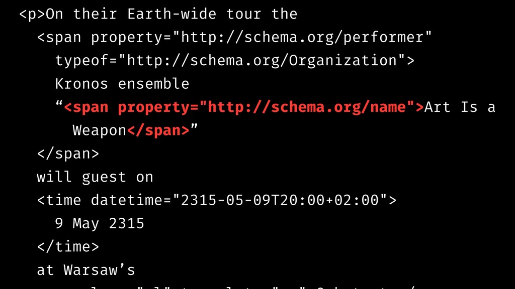 <p>On their Earth-wide tour the <span property=...