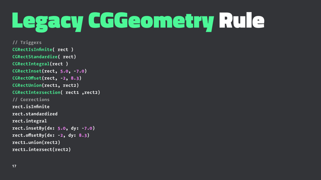 Legacy CGGeometry Rule // Triggers CGRectIsInfin...