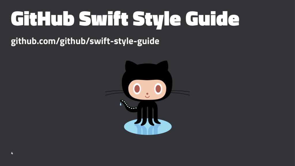 GitHub Swift Style Guide github.com/github/swif...