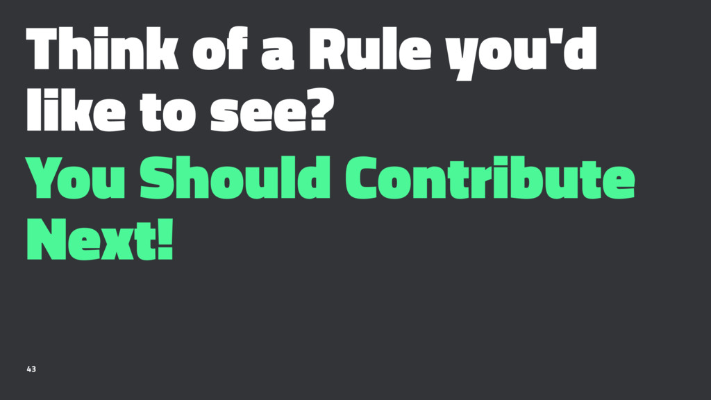 Think of a Rule you'd like to see? You Should C...