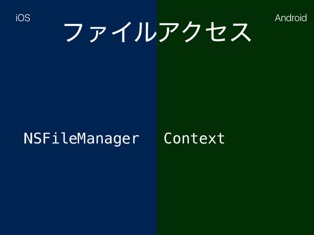 ϑΝΠϧΞΫηε NSFileManager Context iOS Android