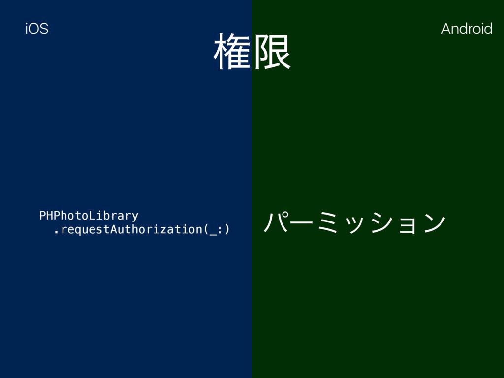 ݖݶ PHPhotoLibrary .requestAuthorization(_:) ύʔ...