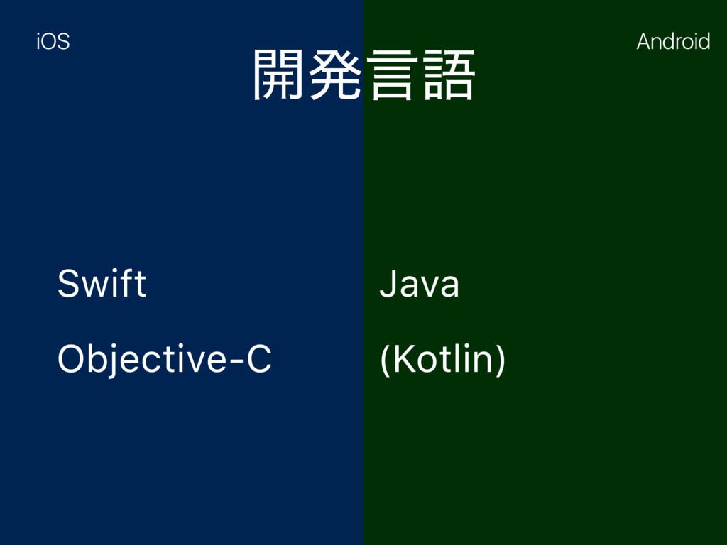 ։ൃݴޠ Swift Objective-C Java (Kotlin) iOS Android