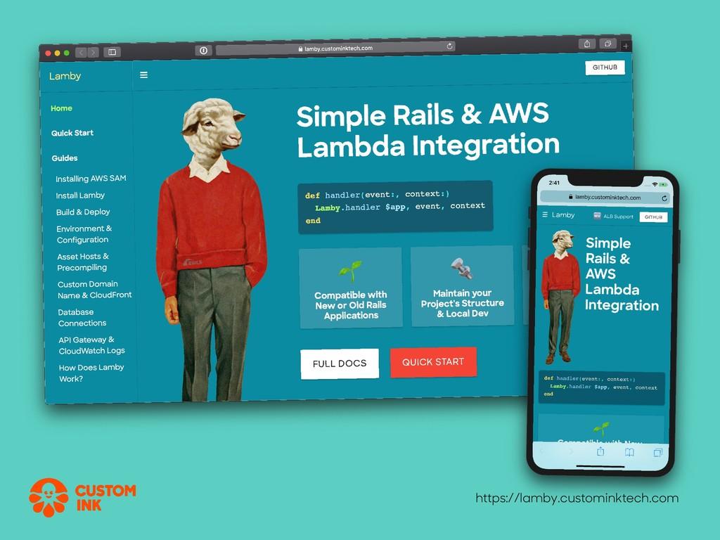 https://lamby.custominktech.com