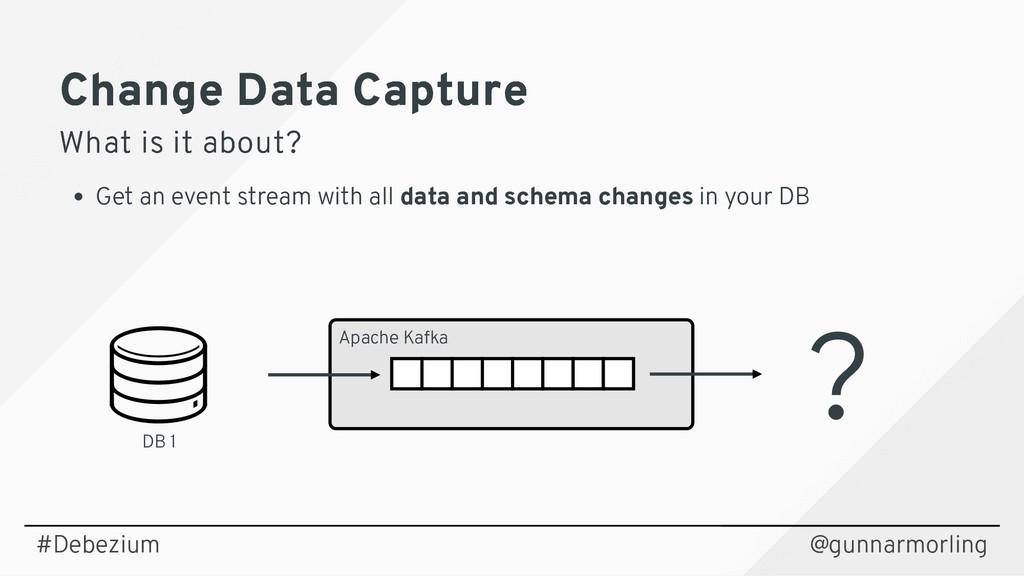 Change Data Capture Change Data Capture What is...