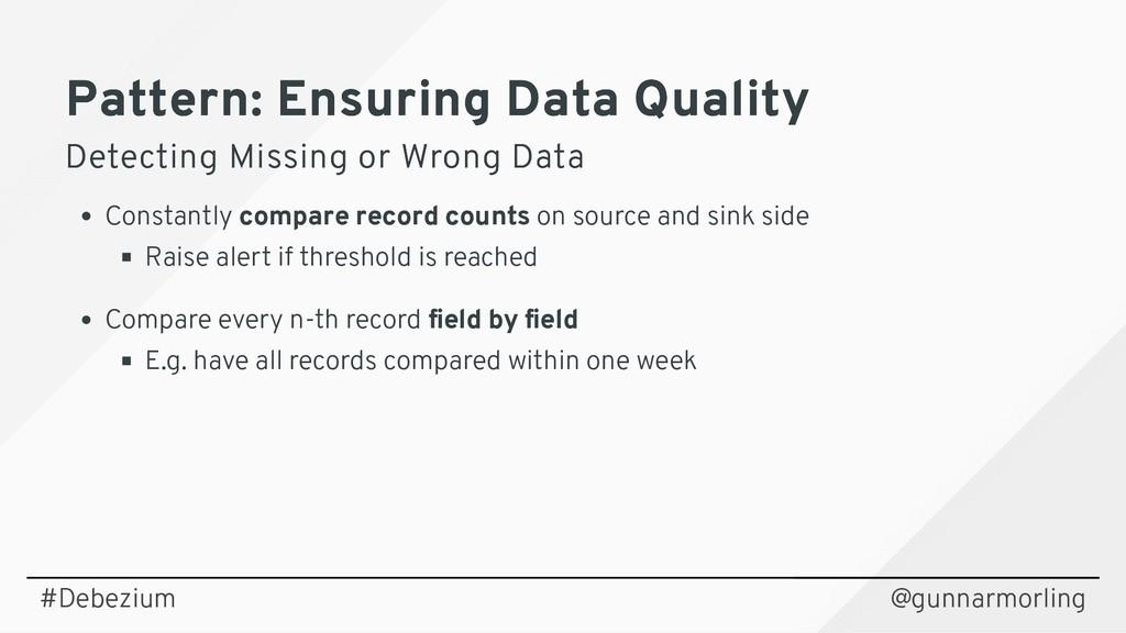 Pattern: Ensuring Data Quality Pattern: Ensurin...