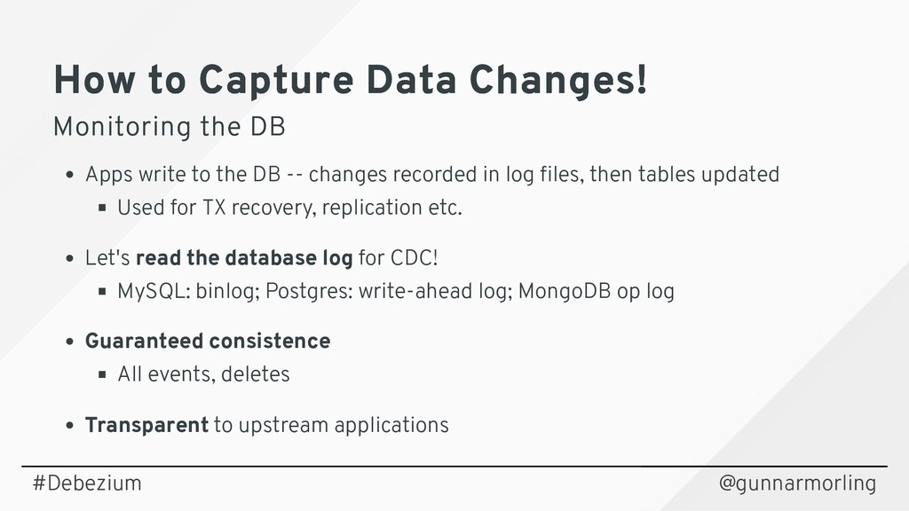 How to Capture Data Changes! How to Capture Dat...