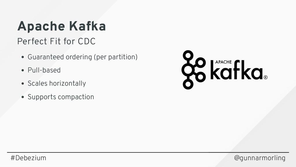 Apache Kafka Apache Kafka Perfect Fit for CDC P...