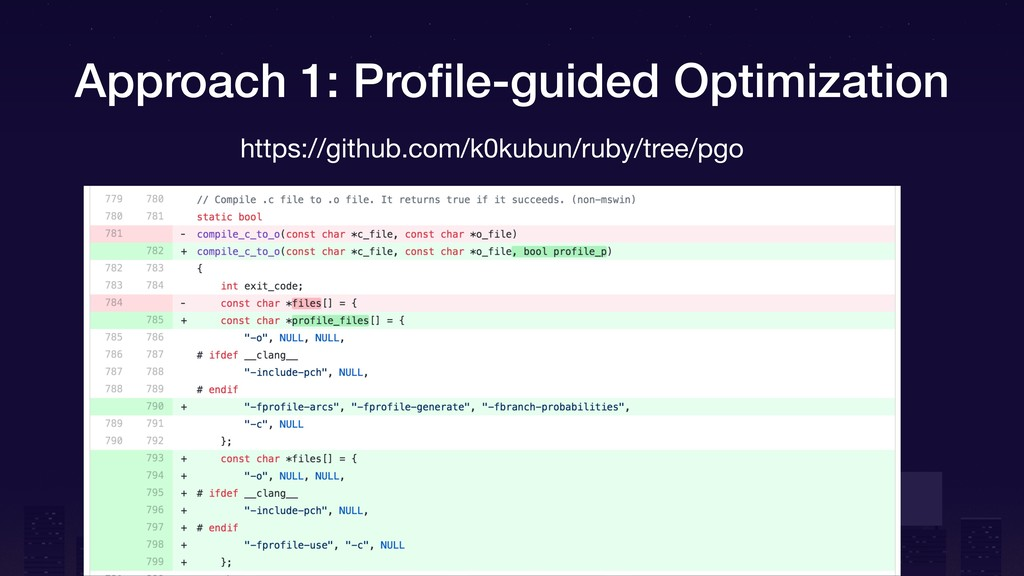 Approach 1: Profile-guided Optimization https://...