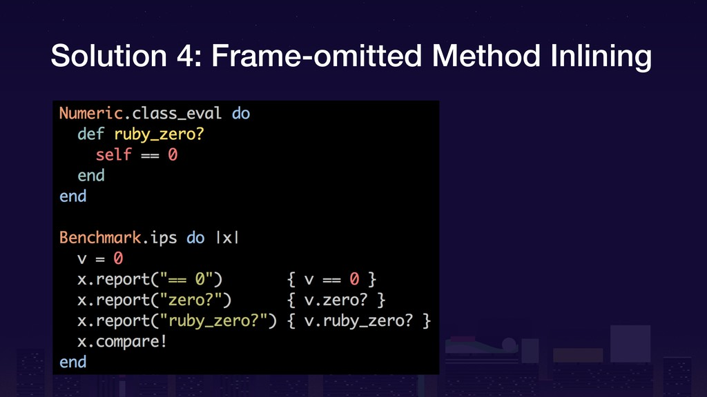 Solution 4: Frame-omitted Method Inlining