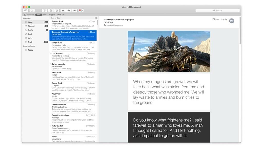 Eddard Stark 9:35 AM Important news [Urgent] If...