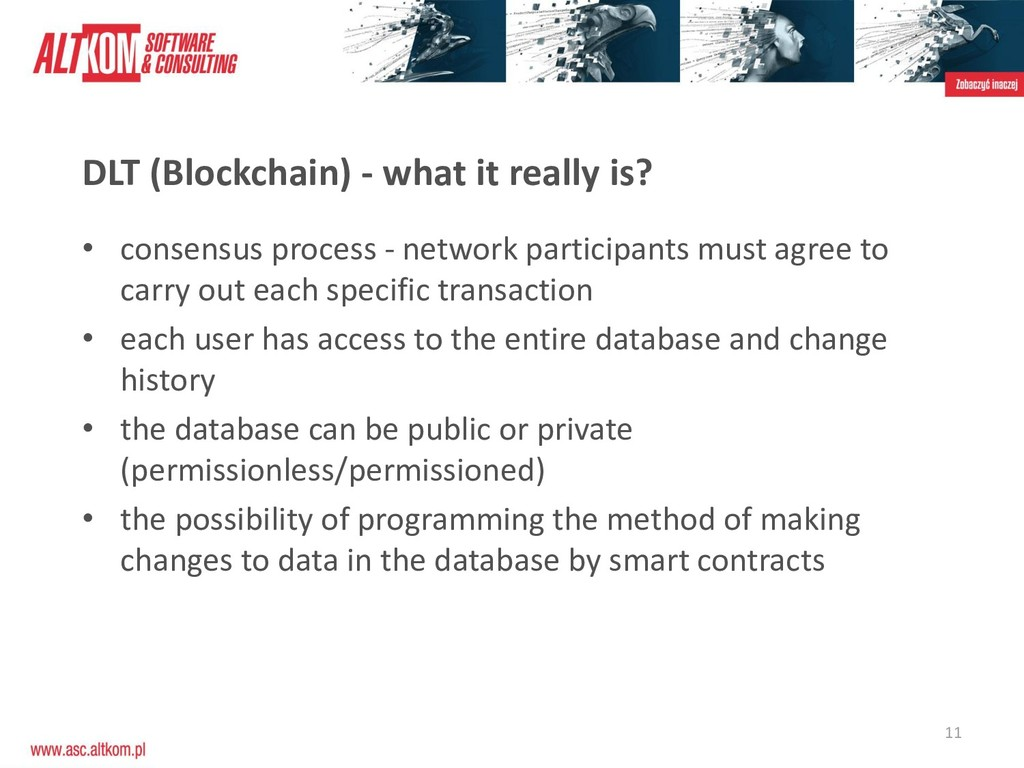 11 DLT (Blockchain) - what it really is? • cons...