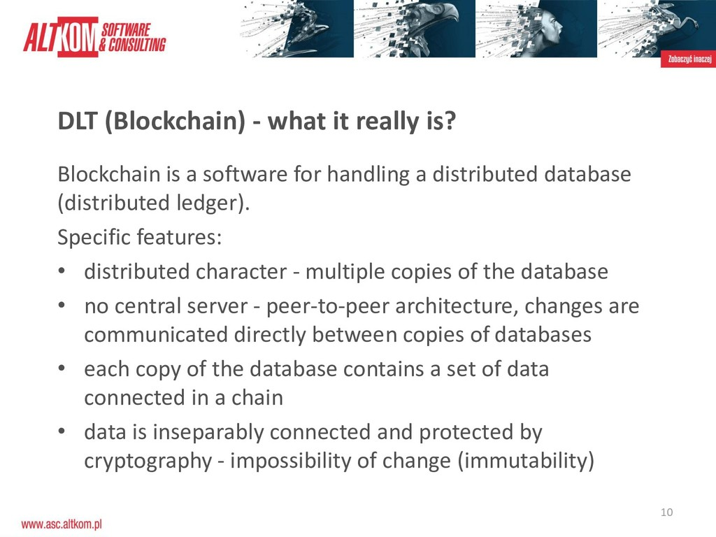 10 DLT (Blockchain) - what it really is? Blockc...