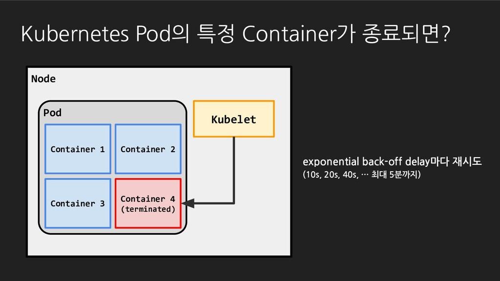Kubernetes Pod의 특정 Container가 종료되면? Pod Node Ku...