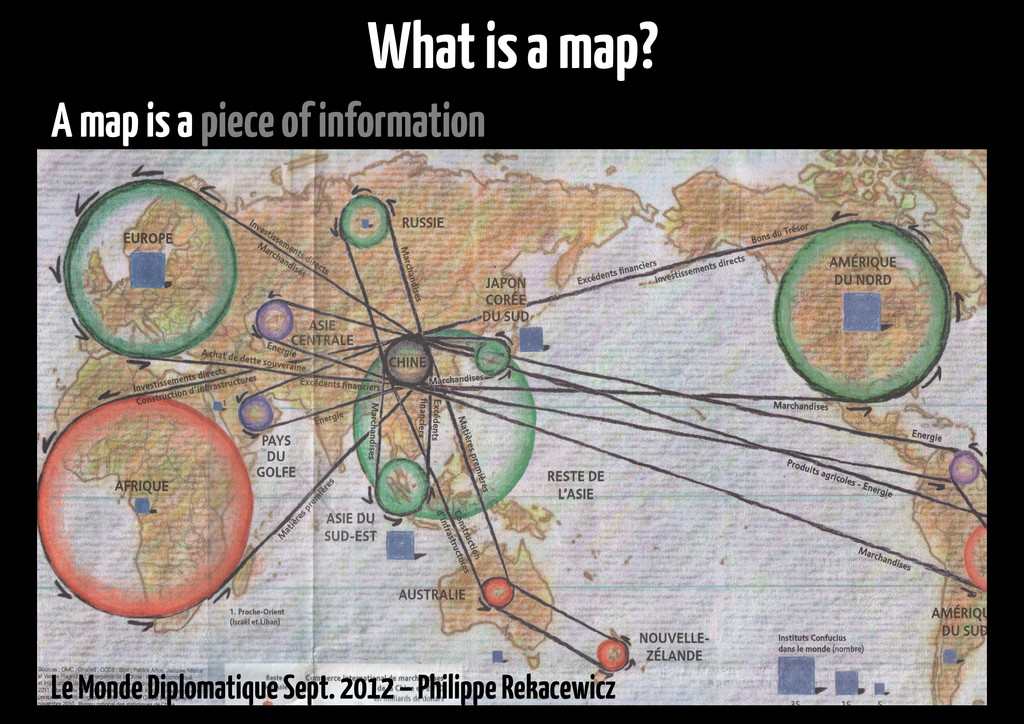 A map is a piece of information Le Monde Diplom...