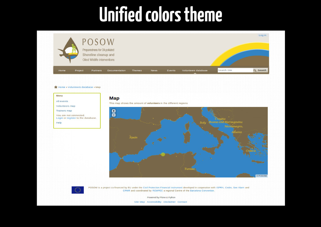 Unified colors theme