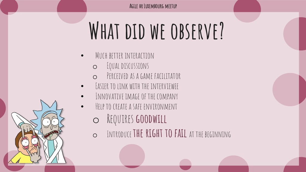Agile hr Luxembourg meetup What did we observe?...