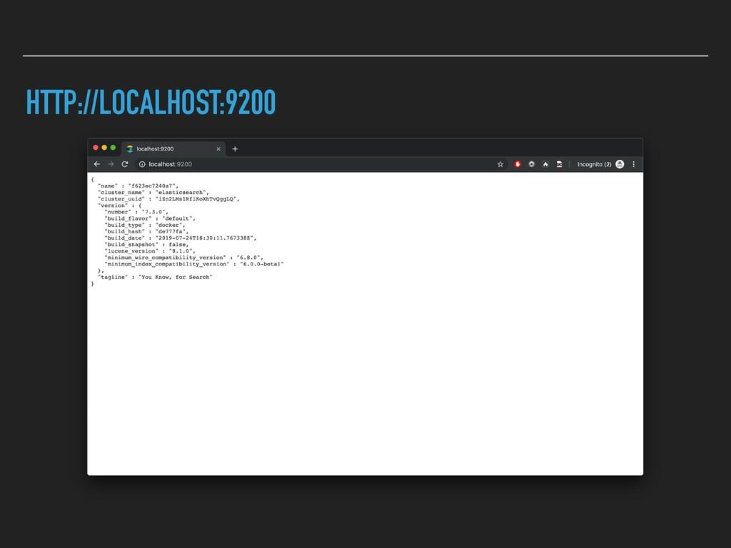HTTP://LOCALHOST:9200