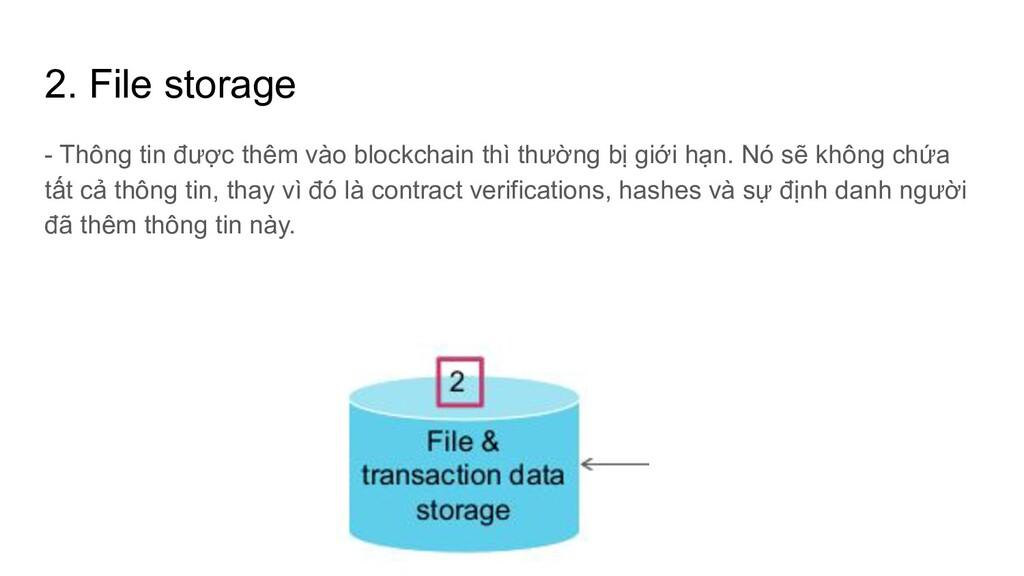 2. File storage - Thông tin được thêm vào block...