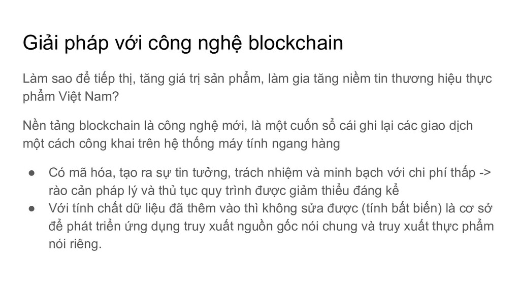 Giải pháp với công nghệ blockchain Làm sao để t...