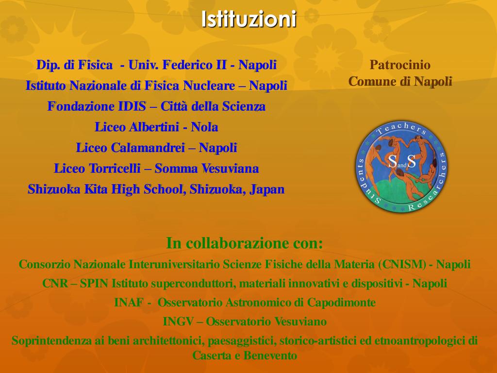 Istituzioni Dip. di Fisica - Univ. Federico II ...