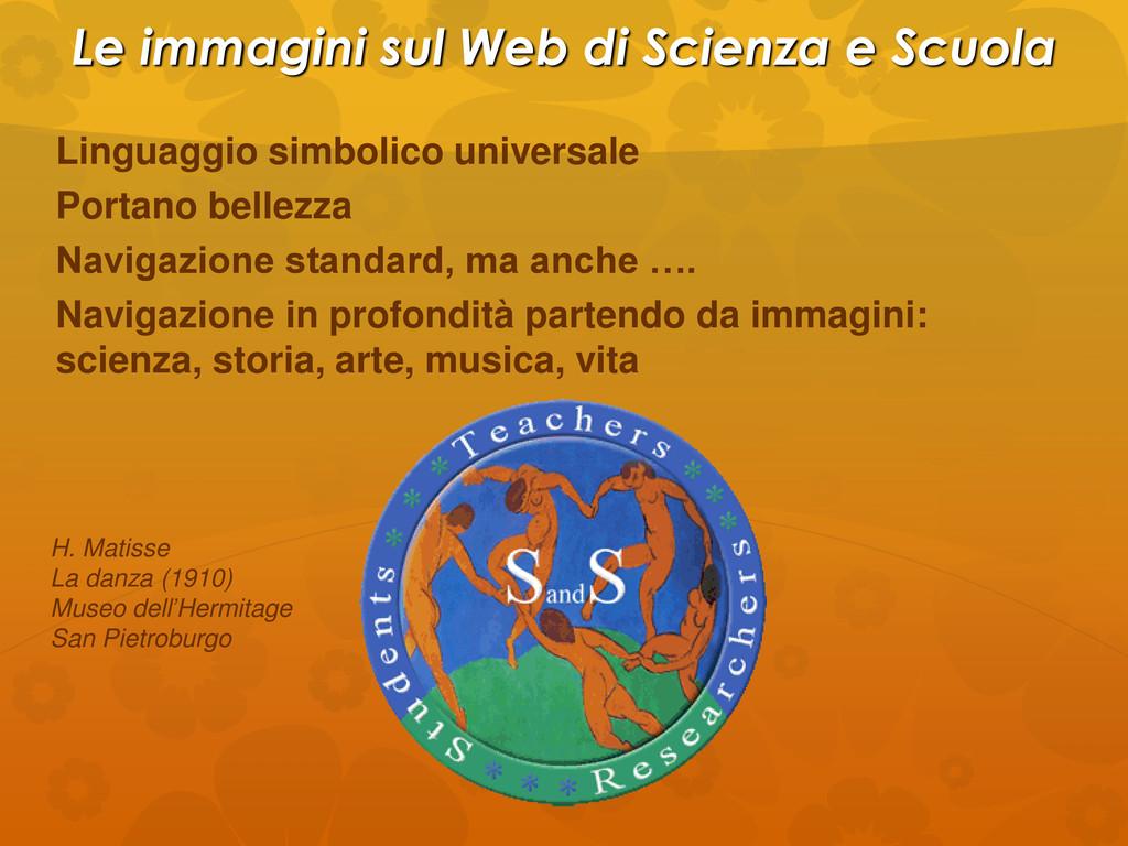 Le immagini sul Web di Scienza e Scuola Linguag...