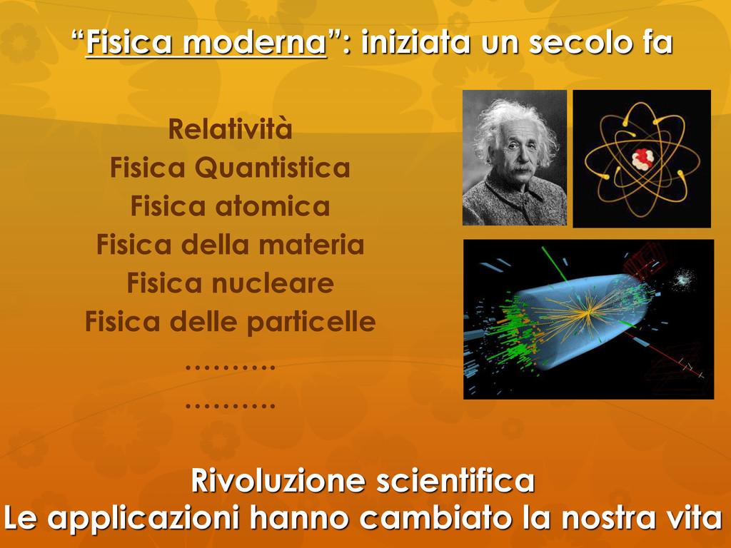 """""""Fisica moderna"""": iniziata un secolo fa Relativ..."""