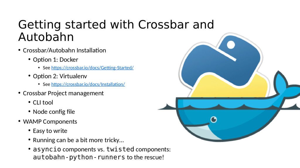 Getting started with Crossbar and Autobahn • Cr...