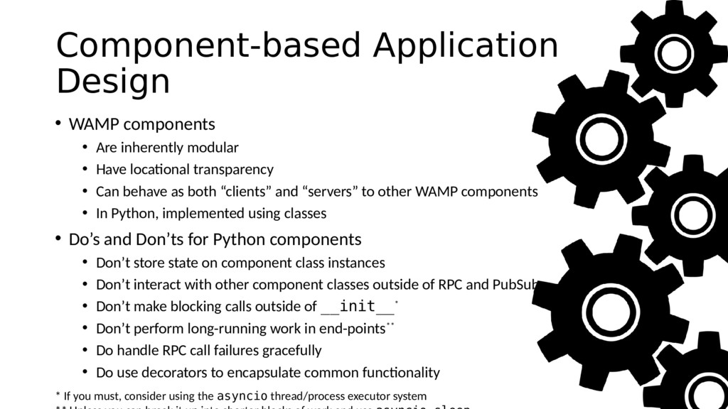 Component-based Application Design • WAMP compo...
