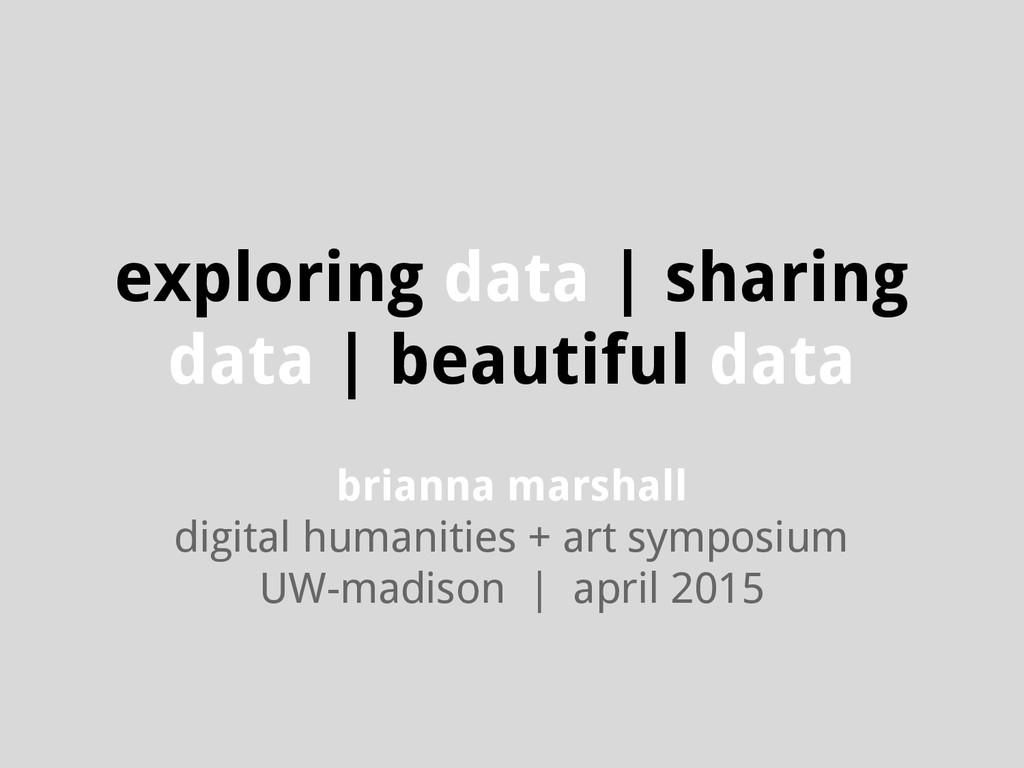 exploring data | sharing data | beautiful data ...