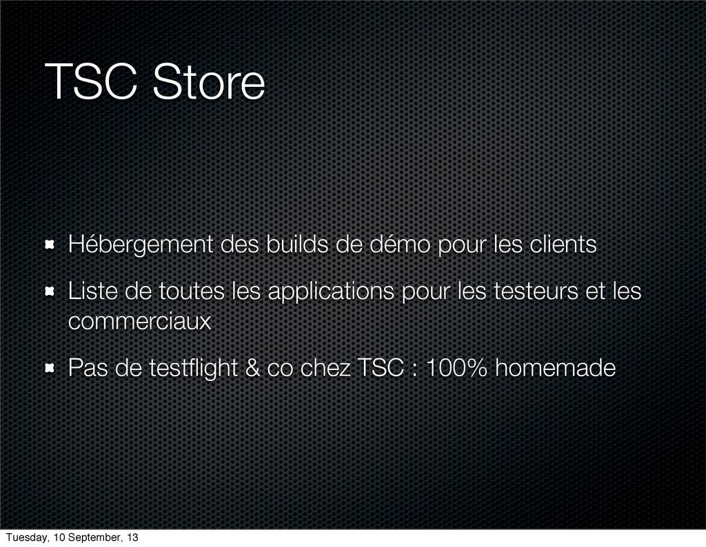 TSC Store Hébergement des builds de démo pour l...