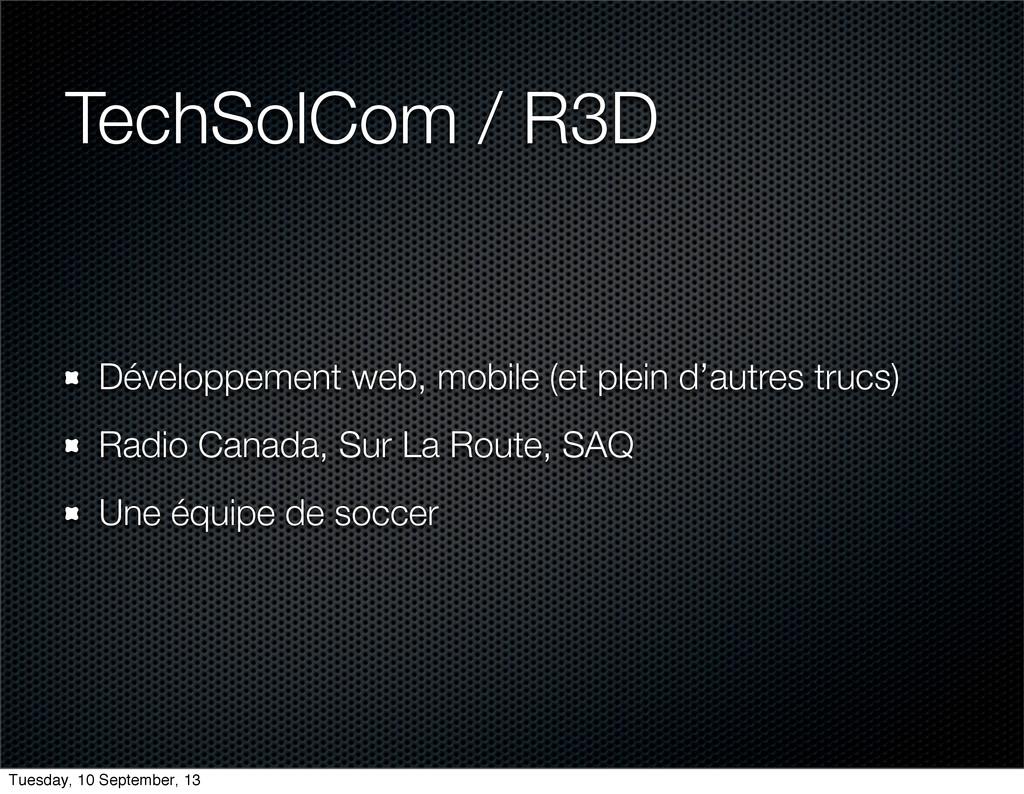 TechSolCom / R3D Développement web, mobile (et ...