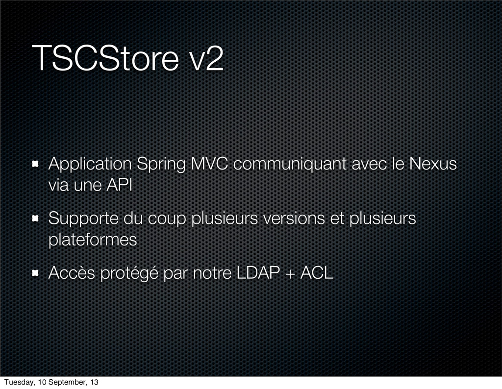 TSCStore v2 Application Spring MVC communiquant...