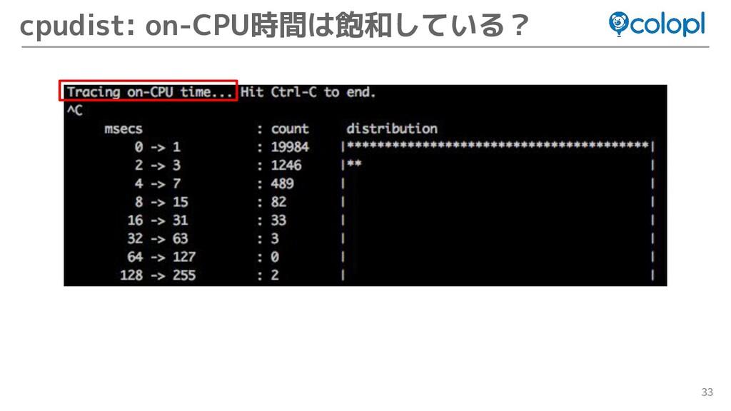 33 cpudist: on-CPU時間は飽和している?