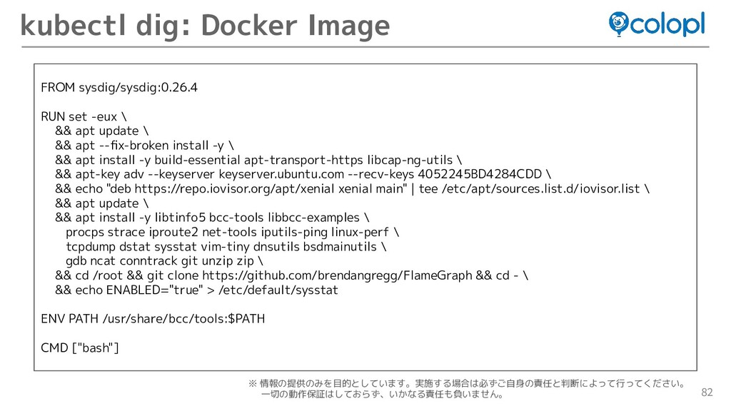 82 kubectl dig: Docker Image FROM sysdig/sysdig...