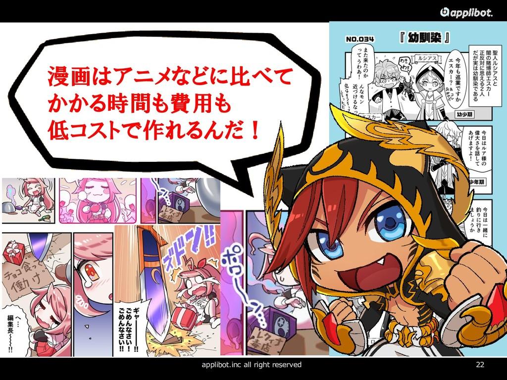 22 コンセプト applibot.inc all right reserved 漫画はアニメ...